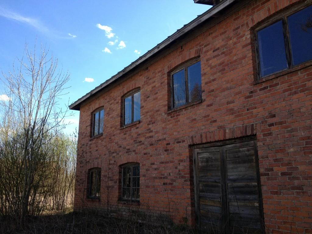 Old abandon brick building