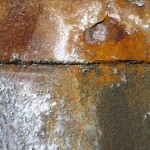 Ruostunutta metallipintaa