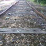 Old rusty railroad