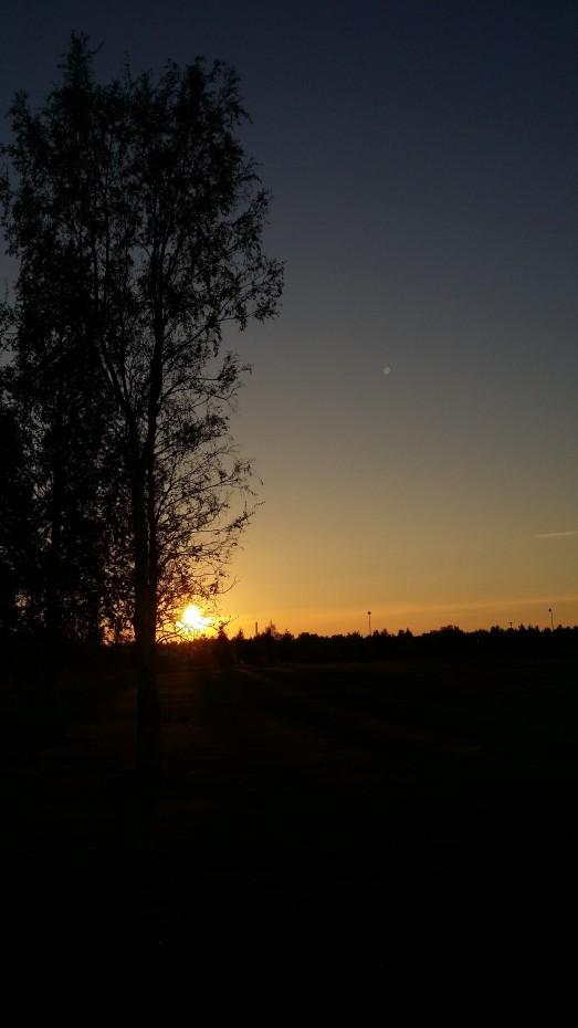 Last minutes of sunset