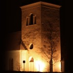Church at evening
